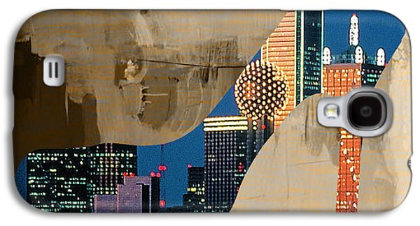 States Galaxy S4 Cases - Dallas Texas Skyline in a Shoe. Galaxy S4 Case by Marvin Blaine
