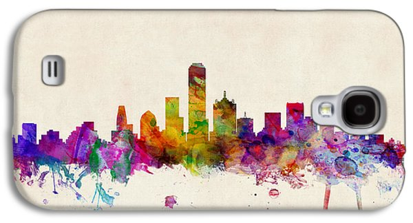Cityscape Digital Galaxy S4 Cases - Dallas Texas Skyline Galaxy S4 Case by Michael Tompsett