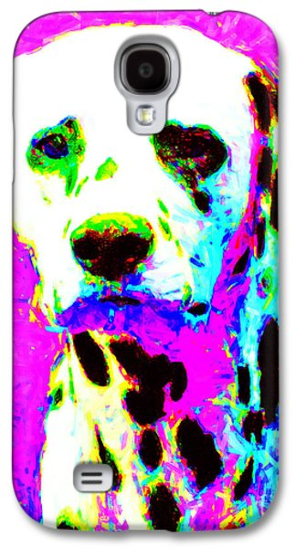 Puppy Digital Art Galaxy S4 Cases - Dalmation Dog 20130125v1 Galaxy S4 Case by Wingsdomain Art and Photography