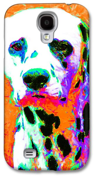 Puppy Digital Art Galaxy S4 Cases - Dalmation Dog 20130125v2 Galaxy S4 Case by Wingsdomain Art and Photography