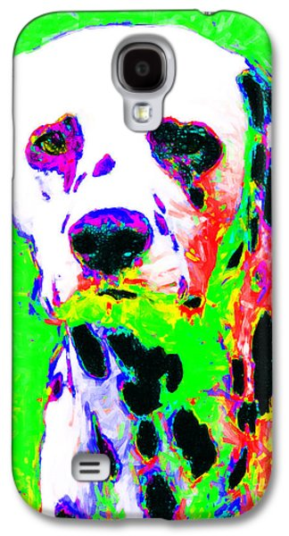 Puppy Digital Art Galaxy S4 Cases - Dalmation Dog 20130125v3 Galaxy S4 Case by Wingsdomain Art and Photography