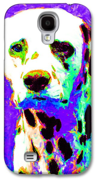 Puppy Digital Art Galaxy S4 Cases - Dalmation Dog 20130125v4 Galaxy S4 Case by Wingsdomain Art and Photography