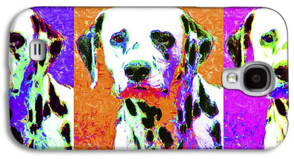 Puppy Digital Art Galaxy S4 Cases - Dalmation Dog Three 20130125 Galaxy S4 Case by Wingsdomain Art and Photography