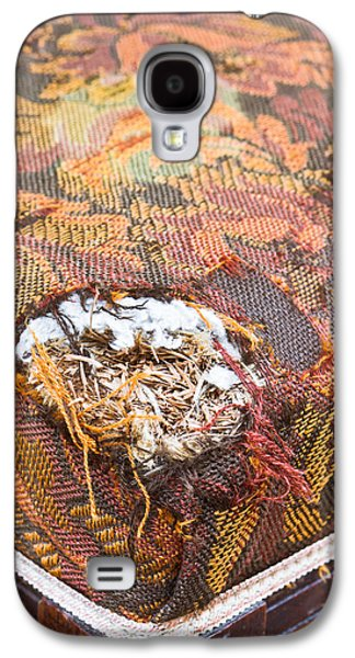 Torn Galaxy S4 Cases - Damaged upholstery Galaxy S4 Case by Tom Gowanlock