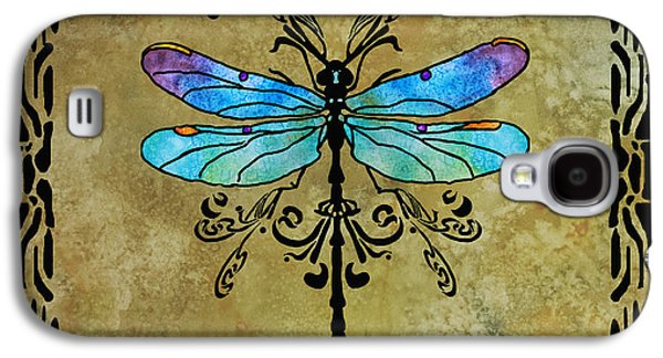 Flies Galaxy S4 Cases - Damselfly Nouveau Galaxy S4 Case by Jenny Armitage