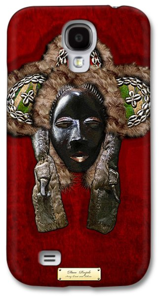 African Heritage Galaxy S4 Cases - Dan Dean-Gle Mask of the Ivory Coast and Liberia on Red Velvet Galaxy S4 Case by Serge Averbukh