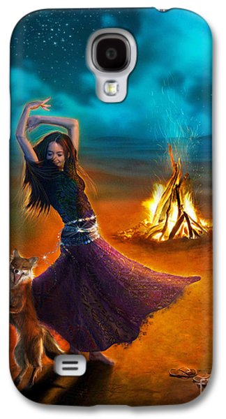 Gypsy Galaxy S4 Cases - Dance Dervish Fox Galaxy S4 Case by Aimee Stewart
