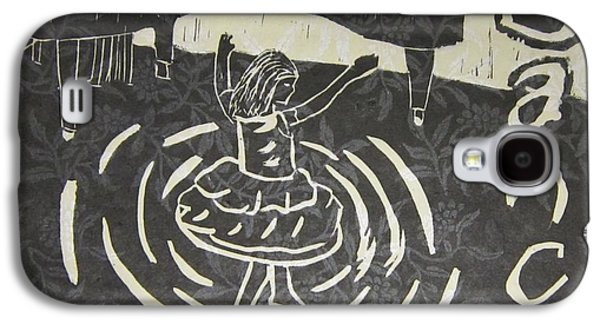 Linocut Paintings Galaxy S4 Cases - Dance Galaxy S4 Case by Marita McVeigh