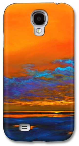 Abstract Seascape Paintings Galaxy S4 Cases - Dance of Angels Galaxy S4 Case by Mike Savlen