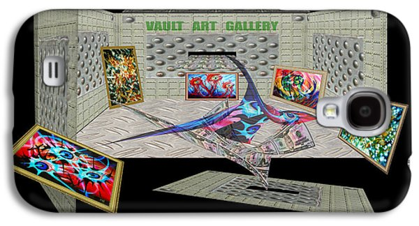 Photo Manipulation Paintings Galaxy S4 Cases - Dance of Money and Art-Poster Galaxy S4 Case by Dariush Alipanah- Jahroudi