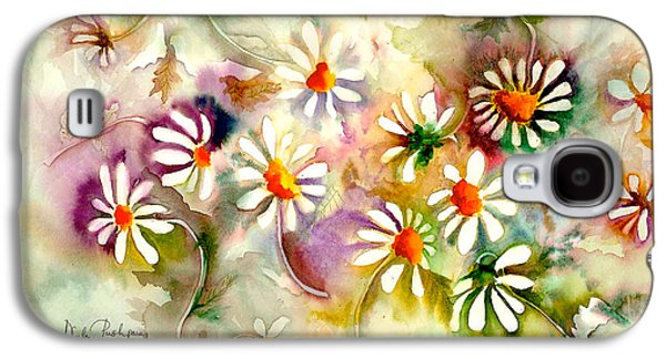 Dance Of The Daisies Galaxy S4 Case by Neela Pushparaj