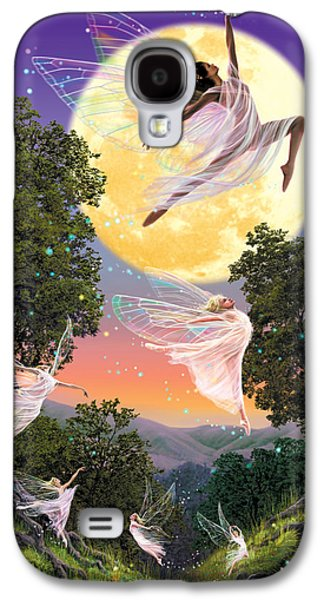 Vertical Flight Galaxy S4 Cases - Dance of the Moon Fairy Galaxy S4 Case by Garry Walton