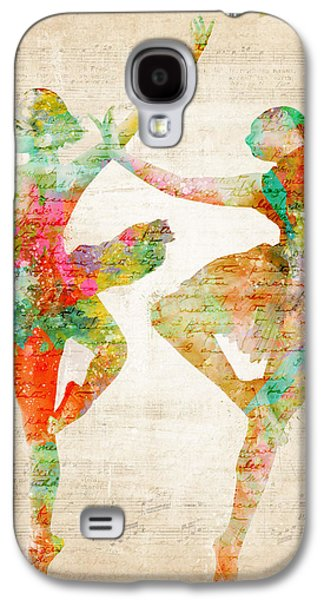Textured Digital Art Galaxy S4 Cases - Dance With Me Galaxy S4 Case by Nikki Marie Smith