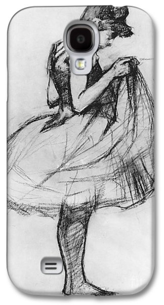 Youthful Drawings Galaxy S4 Cases - Dancer Adjusting her Costume and Hitching up Her Skirt Galaxy S4 Case by Henri de Toulouse-Lautrec