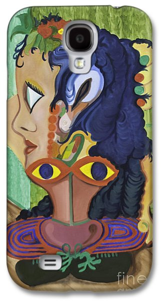 Dance Floor Paintings Galaxy S4 Cases - Dancer And Instructor Galaxy S4 Case by James Lavott