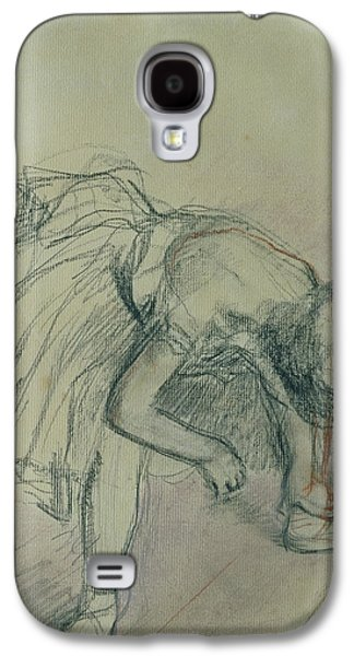 Dancer Fixing Her Slipper Galaxy S4 Case by Edgar Degas