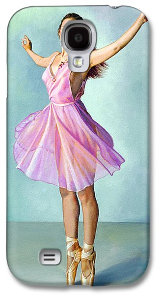 Figures Paintings Galaxy S4 Cases - Dancer in Pink Galaxy S4 Case by Paul Krapf