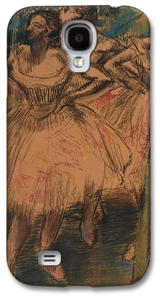 Tutus Paintings Galaxy S4 Cases - Dancer in the Wing Galaxy S4 Case by Edgar Degas