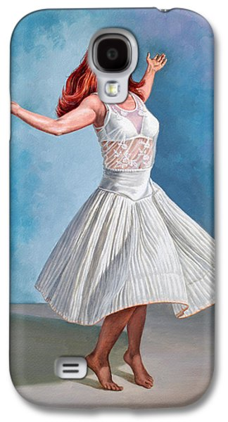 Figure Galaxy S4 Cases - Dancer in White Galaxy S4 Case by Paul Krapf