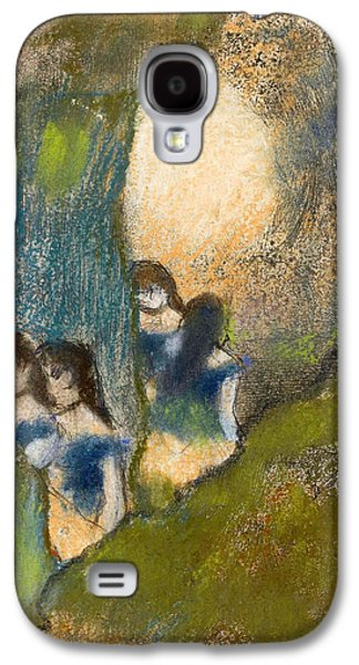 Behind The Scenes Paintings Galaxy S4 Cases - Dancers behind the Scenes Galaxy S4 Case by Edgar Degas