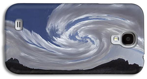 Clouds Digital Art Galaxy S4 Cases - Dancing Clouds 1 Panoramic Galaxy S4 Case by Mike McGlothlen