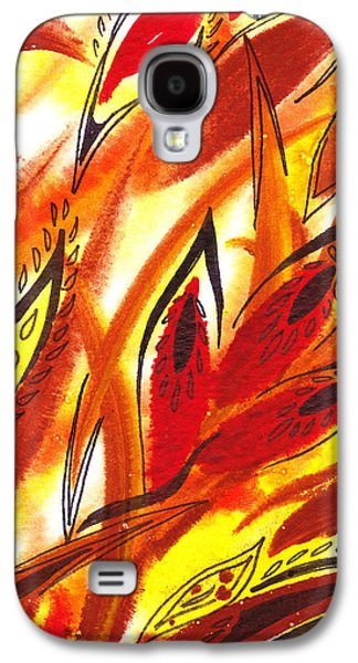 Abstract Movement Galaxy S4 Cases - Dancing Lines Hot Abstract Galaxy S4 Case by Irina Sztukowski