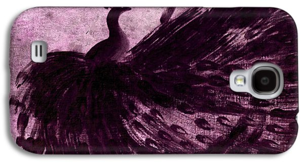 Recently Sold -  - African-american Galaxy S4 Cases - DANCING PEACOCK plum Galaxy S4 Case by Anita Lewis