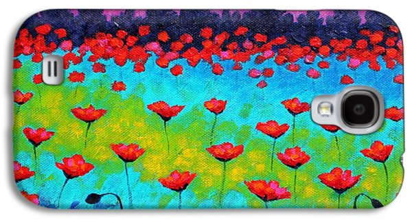 Landscape Posters Galaxy S4 Cases - Dancing Poppies Galaxy S4 Case by John  Nolan