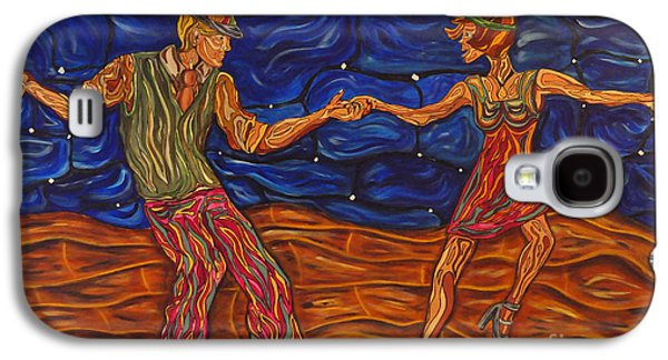 Dance Floor Paintings Galaxy S4 Cases - Dancing the Night Away Galaxy S4 Case by Susan Cliett