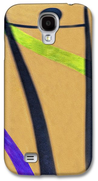 Purple Abstract Beige Galaxy S4 Cases - Dancing With a Shadow 3 Galaxy S4 Case by Paul Wear