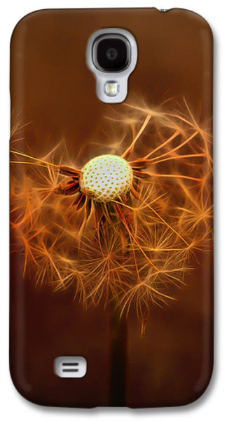 Wine Art Paining Galaxy S4 Cases - Dandelion Glow Galaxy S4 Case by Linda Muir