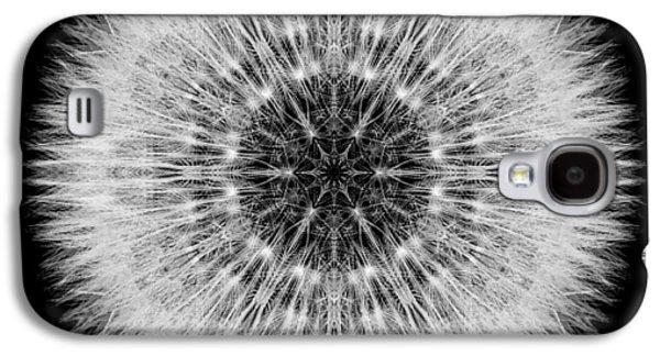 David J Bookbinder Galaxy S4 Cases - Dandelion Head Flower Mandala Galaxy S4 Case by David J Bookbinder