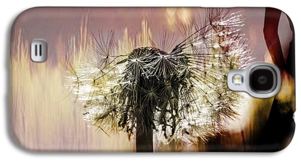 Copy Mixed Media Galaxy S4 Cases - Dandelion in summer Galaxy S4 Case by Toppart Sweden