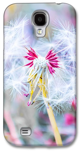 Girl Galaxy S4 Cases - Pink Dandelion Galaxy S4 Case by Parker Cunningham