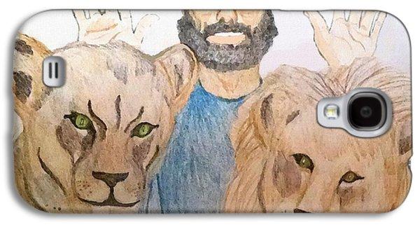 Book Of Daniel Galaxy S4 Cases - Daniel in the Lions Den Galaxy S4 Case by Pharris Art
