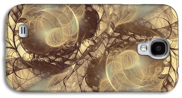 Abstract Digital Mixed Media Galaxy S4 Cases - Danse Macabre Galaxy S4 Case by Georgiana Romanovna
