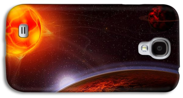 Intergalactic Space Galaxy S4 Cases - Dantes Symphony Galaxy S4 Case by Anthony Citro