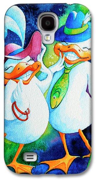 Dapper Duckies Galaxy S4 Case by Hanne Lore Koehler