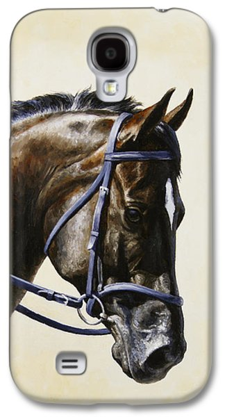 Horseback Galaxy S4 Cases - Dark Bay Dressage Horse Phone Case Galaxy S4 Case by Crista Forest