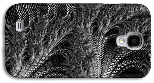 Engulfing Galaxy S4 Cases - Dark loops - black and white fractal abstract Galaxy S4 Case by Matthias Hauser