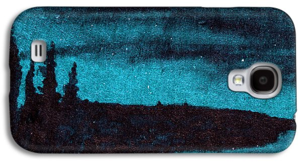 Constellations Paintings Galaxy S4 Cases - Dark Moon Galaxy S4 Case by R Kyllo