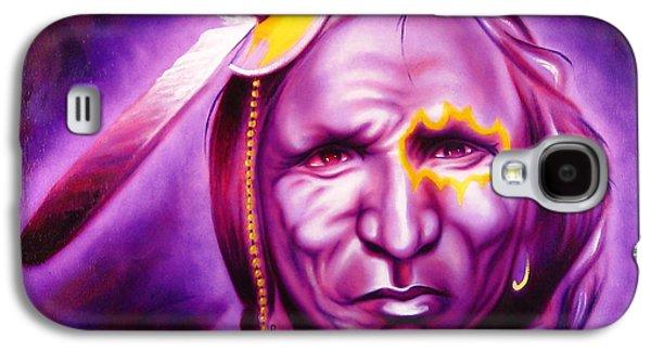 Purple Robe Galaxy S4 Cases - Dark Night Galaxy S4 Case by Robert Martinez