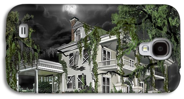Thunder Paintings Galaxy S4 Cases - Dark Plantation House Galaxy S4 Case by James Christopher Hill