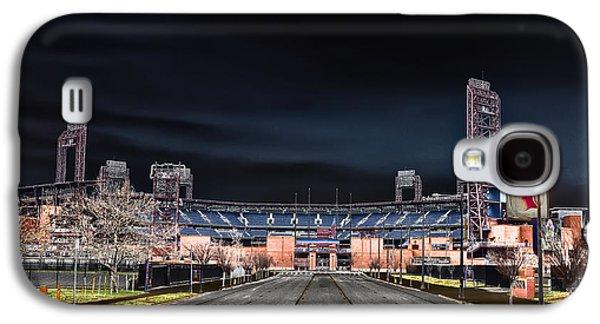 Citizens Bank Park Galaxy S4 Cases - Dark Skies at Citizens Bank Park Galaxy S4 Case by Bill Cannon