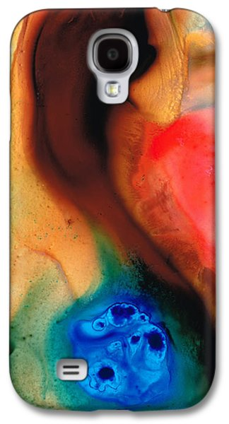 Earth Tones Galaxy S4 Cases - Dark Swan - Abstract Art By Sharon Cummings Galaxy S4 Case by Sharon Cummings