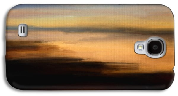 Sunset Abstract Digital Galaxy S4 Cases - Darkness Dreams Galaxy S4 Case by Lourry Legarde