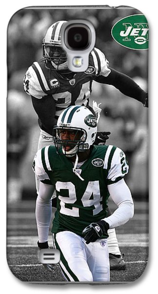 New York Jets Galaxy S4 Cases - Darrelle Revis Jets Galaxy S4 Case by Joe Hamilton