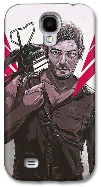 Digital Galaxy S4 Cases - Daryl Dixon Galaxy S4 Case by Jeremy Scott