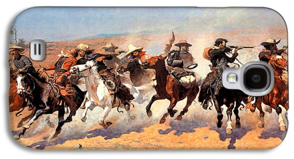 Remington Digital Galaxy S4 Cases - Dash For The Timber Galaxy S4 Case by Frederic Remington