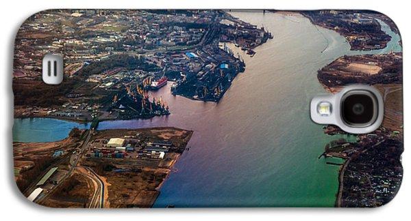 Unique View Galaxy S4 Cases - Daugawa River. Riga. Latvia. Rainbow Earth Galaxy S4 Case by Jenny Rainbow